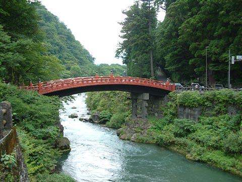 歩くこと数十分。神橋まで来ました。